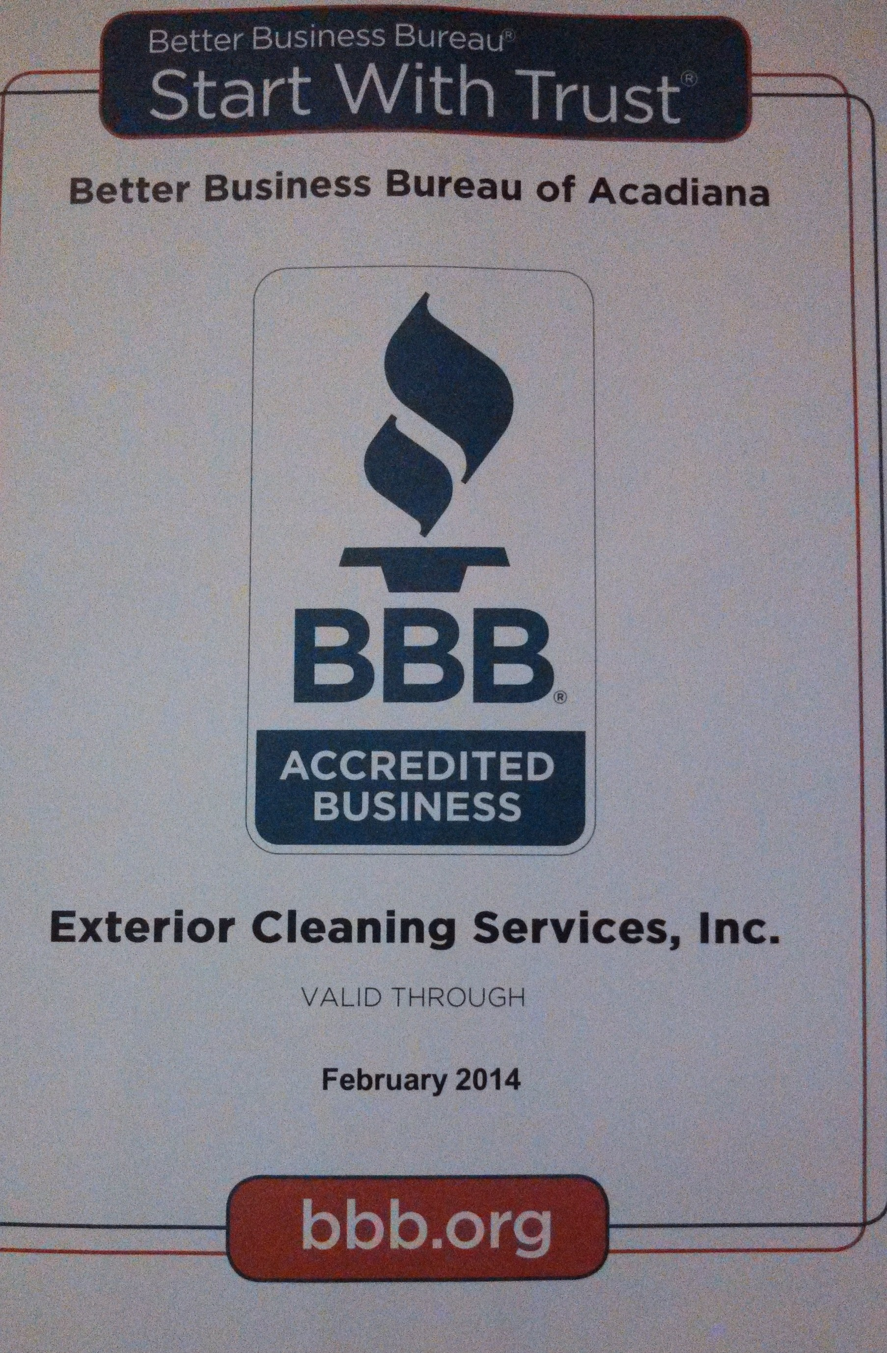 Accredited by the Better Business of Acadiana